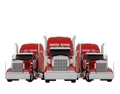 3d truck isolated on white