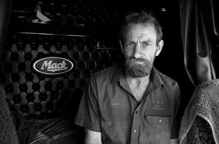 photo of a Mack truck driver