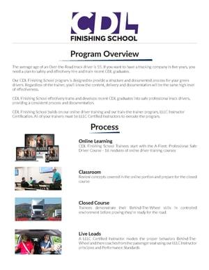 CDL Finishing School Overview Brochure