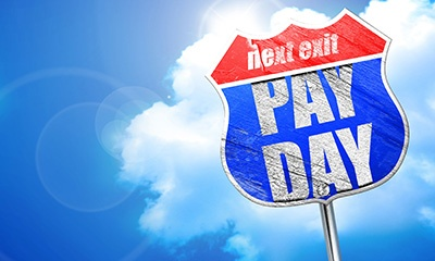 pay day street sign
