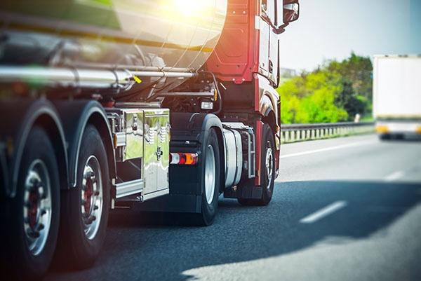 Semi Truck on the Highway. Semi Truck Heavy Duty Transportation