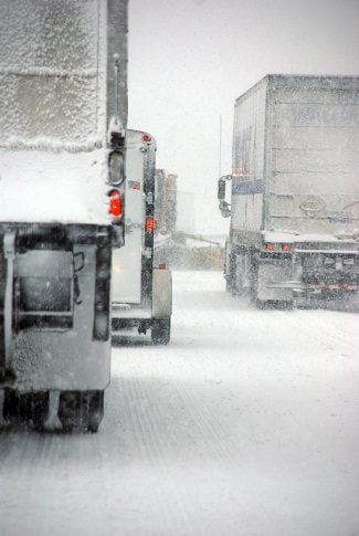 winter truck driving risk