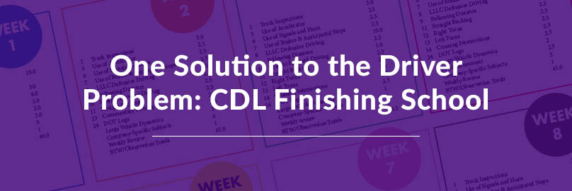 One Solution to the Driver Problem CDL Finishing School